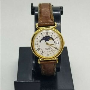 Vintage Pulsar V829-0010 Moon Phase Women's Watch